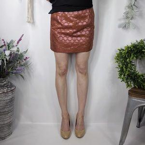 J.CREW COLLECTION brocade silk mini skirt